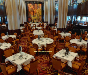 Main dining room on Brilliance of the Seas cruise ship