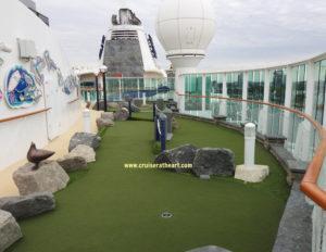 Mini Golf course on board Royal Caribbean Serenade of the Seas Cruise Ship