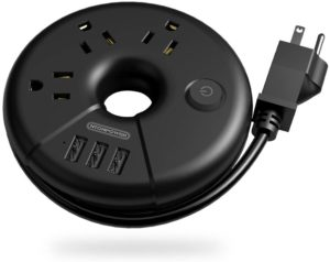 Travel Power Strip Without Surge Protector for Cruises