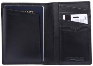 Silent Product RFID Leather Passport Holder
