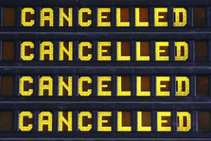 Cruise Passengers Can Learn from the Coronavirus Pandemic - Cancelled sign Imaged