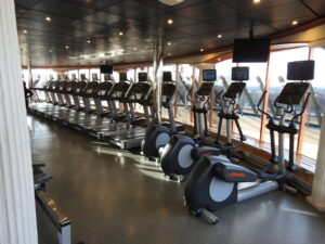 Picture of exercise equipment in gym
